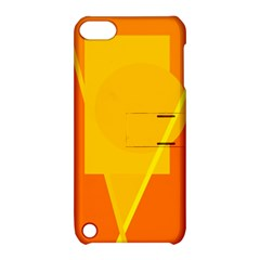 Orange abstract design Apple iPod Touch 5 Hardshell Case with Stand