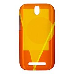 Orange abstract design HTC One SV Hardshell Case
