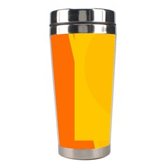 Orange abstract design Stainless Steel Travel Tumblers