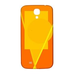 Orange abstract design Samsung Galaxy S4 I9500/I9505  Hardshell Back Case