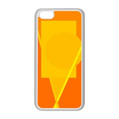 Orange abstract design Apple iPhone 5C Seamless Case (White)