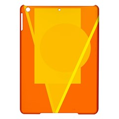 Orange abstract design iPad Air Hardshell Cases