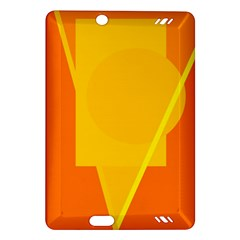 Orange abstract design Amazon Kindle Fire HD (2013) Hardshell Case