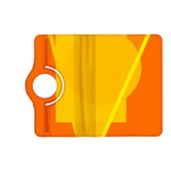 Orange abstract design Kindle Fire HD (2013) Flip 360 Case