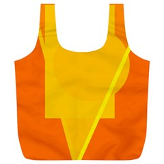 Orange abstract design Full Print Recycle Bags (L)