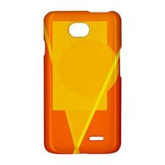 Orange abstract design LG Optimus L70