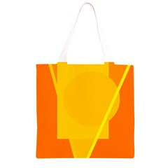 Orange abstract design Grocery Light Tote Bag