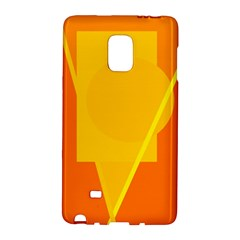 Orange abstract design Galaxy Note Edge