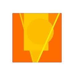 Orange abstract design Satin Bandana Scarf