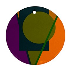 Geometric abstraction Ornament (Round)