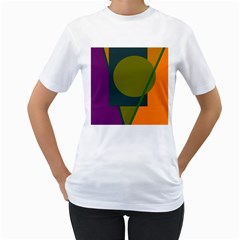 Geometric abstraction Women s T-Shirt (White) (Two Sided)