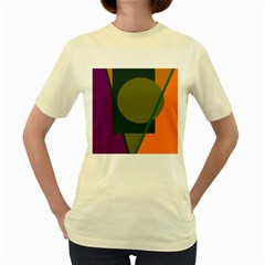 Geometric abstraction Women s Yellow T-Shirt