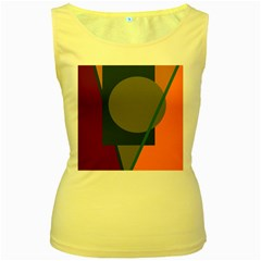 Geometric abstraction Women s Yellow Tank Top