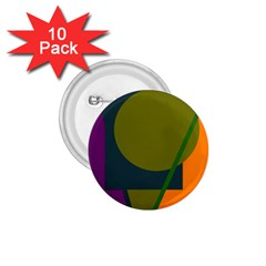 Geometric abstraction 1.75  Buttons (10 pack)