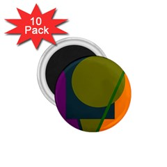 Geometric abstraction 1.75  Magnets (10 pack)