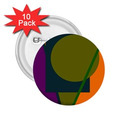 Geometric abstraction 2.25  Buttons (10 pack)