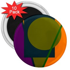 Geometric abstraction 3  Magnets (10 pack)