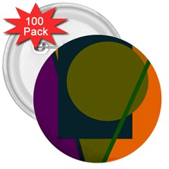 Geometric abstraction 3  Buttons (100 pack)