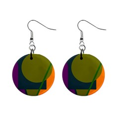 Geometric abstraction Mini Button Earrings
