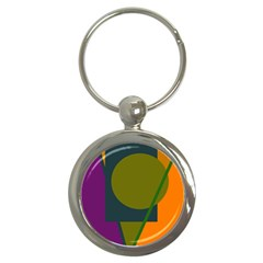 Geometric abstraction Key Chains (Round)