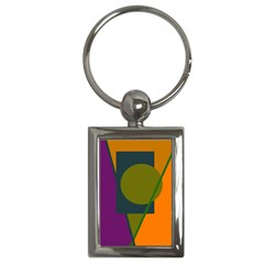 Geometric abstraction Key Chains (Rectangle)