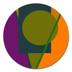 Geometric abstraction Magnet 5  (Round)