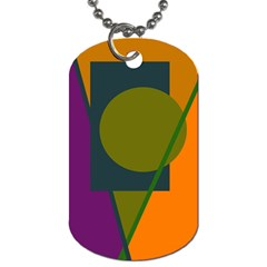 Geometric abstraction Dog Tag (One Side)