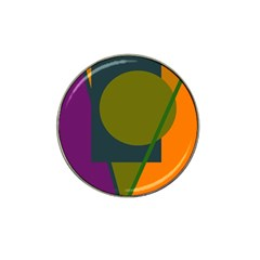 Geometric abstraction Hat Clip Ball Marker