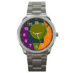 Geometric abstraction Sport Metal Watch