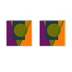 Geometric abstraction Cufflinks (Square)