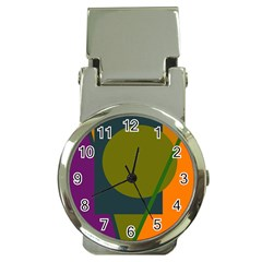 Geometric abstraction Money Clip Watches
