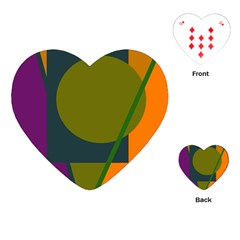 Geometric abstraction Playing Cards (Heart)