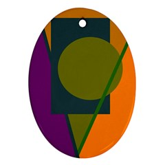 Geometric abstraction Oval Ornament (Two Sides)