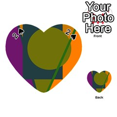 Geometric abstraction Playing Cards 54 (Heart)