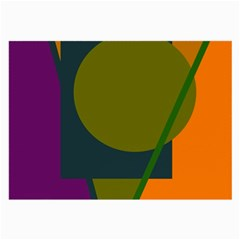 Geometric abstraction Large Glasses Cloth (2-Side)