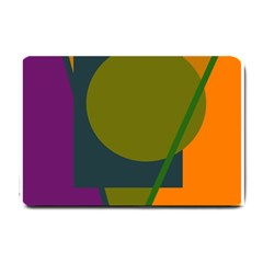 Geometric abstraction Small Doormat