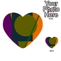 Geometric abstraction Multi-purpose Cards (Heart)