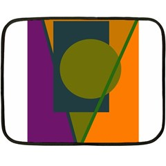 Geometric abstraction Double Sided Fleece Blanket (Mini)
