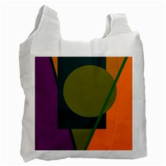 Geometric abstraction Recycle Bag (One Side)