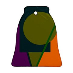 Geometric abstraction Bell Ornament (2 Sides)