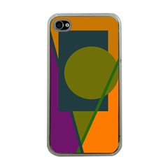 Geometric abstraction Apple iPhone 4 Case (Clear)