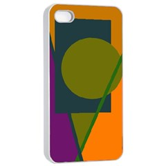 Geometric abstraction Apple iPhone 4/4s Seamless Case (White)