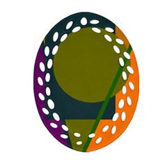 Geometric abstraction Ornament (Oval Filigree)