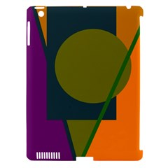 Geometric abstraction Apple iPad 3/4 Hardshell Case (Compatible with Smart Cover)