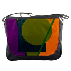 Geometric abstraction Messenger Bags