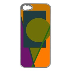 Geometric abstraction Apple iPhone 5 Case (Silver)