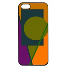 Geometric abstraction Apple iPhone 5 Seamless Case (Black)