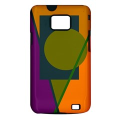 Geometric abstraction Samsung Galaxy S II i9100 Hardshell Case (PC+Silicone)