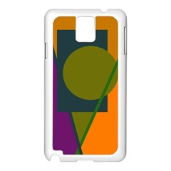 Geometric abstraction Samsung Galaxy Note 3 N9005 Case (White)