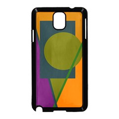 Geometric abstraction Samsung Galaxy Note 3 Neo Hardshell Case (Black)